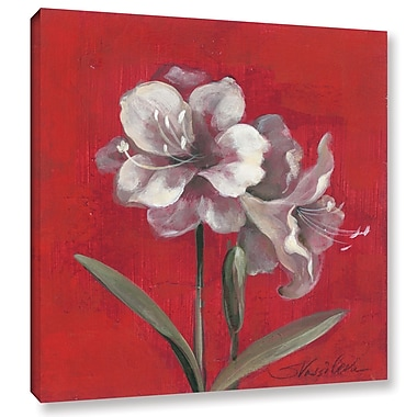 Red Barrel Studio 'Christmas Flowers' Painting Print on Wrapped Canvas; 18'' H x 18'' W x 2'' D