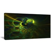 East Urban Home Green Fractal Light Forms Photographic Print on Canvas; 40 '' W x 20 '' H