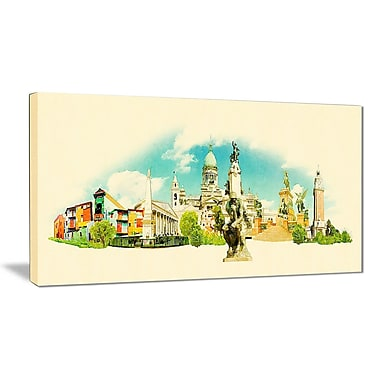 East Urban Home Buenos Aires Panoramic View Graphic Art Print on Canvas; 40 '' W x 20 '' H