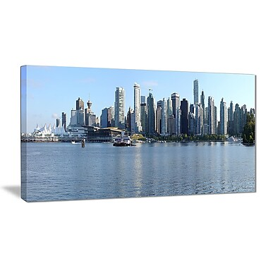 East Urban Home Vancouver BC Skyline Panorama Photographic Print on Canvas; 40 '' W x 20 '' H