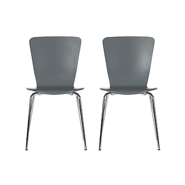 Novogratz Bentwood Side Chair (Set of 2); Gray