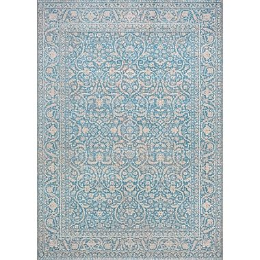 Ophelia & Co. Attie Ocean Blue Area Rug; 2' x 3'11''