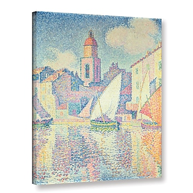 Ophelia & Co. The Clocktower at St. Tropez, 1896 by Paul Signac Painting Print on Wrapped Canvas