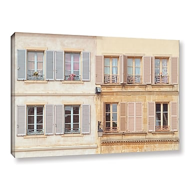 Winston Porter Facade Francais III Photographic Print on Wrapped Canvas; 12'' H x 18'' W x 2'' D