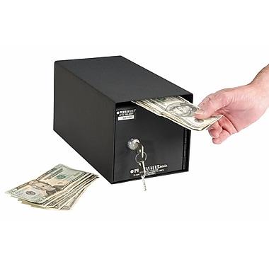 Perma Vault Horizontal Mount Front Loading Key Lock Commercial Depository Safe; Standard Key