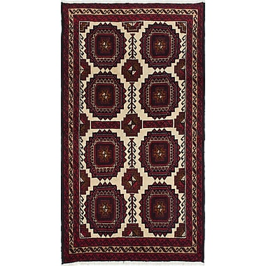 Bloomsbury Market Bilbo Hand-Knotted Geometric Red Area Rug