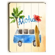 Bayou Breeze 'Aloha Surf Van' Rectangle Graphic Art Print on Wood; 20'' H x 14'' W x 1.5'' D