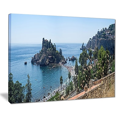 East Urban Home Taormina Island Panoramic View Photographic Print on Canvas; 20 '' W x 12 '' H
