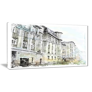 East Urban Home Watercolor Dark Illustration Oil Painting Print on Canvas; 32 '' W x 16 '' H