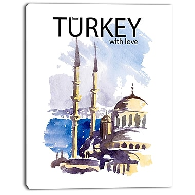 East Urban Home Turkey Vector Illustration Oil Painting Print on Canvas; 12 '' W x 20 '' H