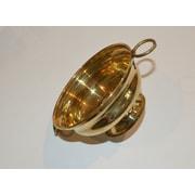 Fuzion Home Decor Brass Pot Planter; 1.8'' H x 4'' W x 4'' D