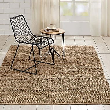 Gracie Oaks Baxter Hand-Woven Natural Area Rug; 5' x 8'