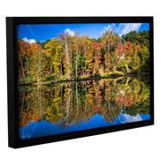 Loon Peak Autumn Reflection Framed Photographic Print; 12'' H x 18'' W x 2'' D