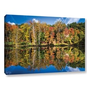 Loon Peak Autumn Reflection Photographic Print on Wrapped Canvas; 32'' H x 48'' W x 2'' D