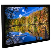 Loon Peak 'Autumn Reflection 2 Framed' Print; 8'' H x 12'' W x 2'' D