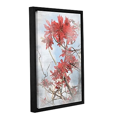 Loon Peak 'Red Bush 3' Framed Painting Print on Canvas; 12'' H x 8'' W x 2'' D