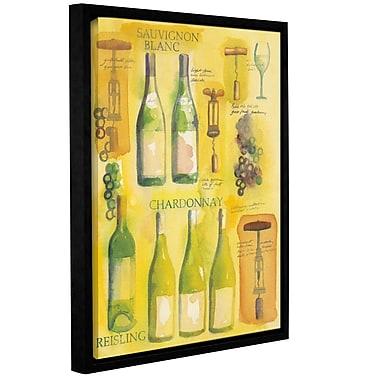 Fleur De Lis Living White Wine Collage Framed Graphic Art; 24'' H x 18'' W x 2'' D