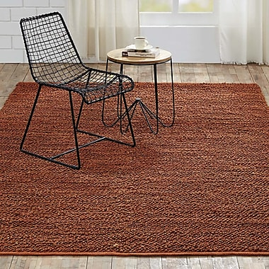 Gracie Oaks Baxter Hand-Woven Amber Area Rug; 6' x 9'