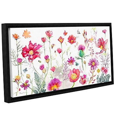 Harriet Bee Cosmos Flowers Scenic Framed Graphic Art; 18'' H x 36'' W x 2'' D