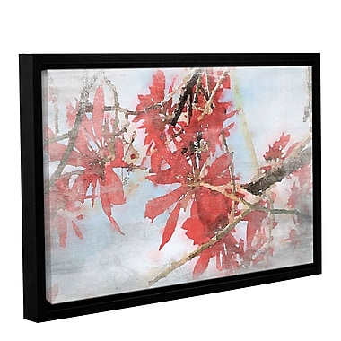 Loon Peak 'Red Bush 1' Framed Painting Print on Canvas; 8'' H x 12'' W x 2'' D