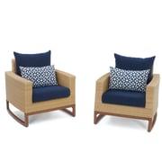 Bayou Breeze Addison Club Chair w/ Cushions; Navy Blue