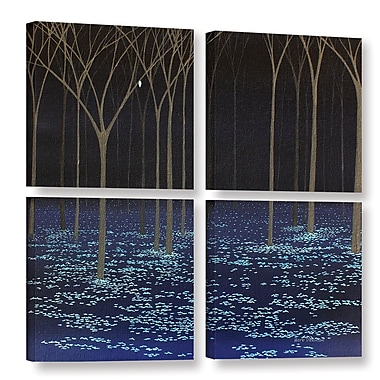Red Barrel Studio Night Forest 4 Piece Graphic Art on Wrapped Canvas Set; 48'' H x 48'' W x 2'' D