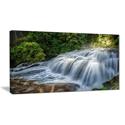 East Urban Home Flowing Pha Dokseaw Waterfall Graphic Art Print on Canvas; 40 '' W x 20 '' H