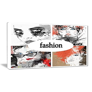 East Urban Home Collage of Girls Graphic Art Print on Canvas; 40 '' W x 20 '' H