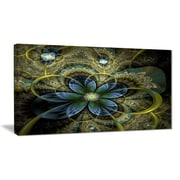 East Urban Home Light Fractal Flower and Butterfly Graphic Art Print on Canvas; 40 '' W x 20 '' H