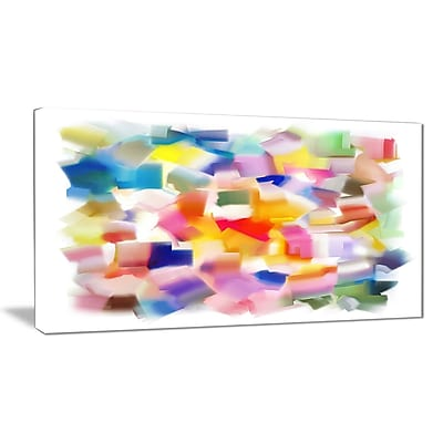 East Urban Home Colorful Stain Design without Grid Photographic Print on Canvas; 40 '' W x 20 '' H
