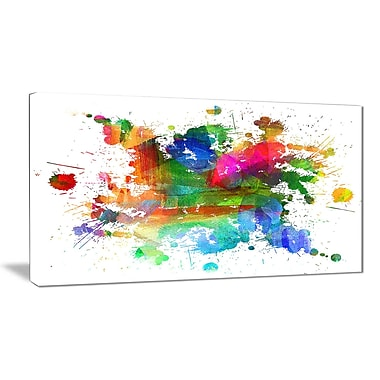 East Urban Home Splashes of Colors Graphic Art Print on Canvas; 32 '' W x 16 '' H