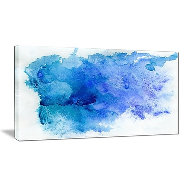 East Urban Home Blue Watercolor Graphic Art Print on Canvas; 40 '' W x 20 '' H