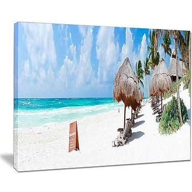 East Urban Home Caribbean Beach Panorama Photographic Print on Canvas; 20 '' W x 12 '' H