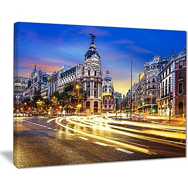 East Urban Home Madrid City Center Photographic Print on Canvas; 40 '' W x 30 '' H