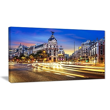 East Urban Home Madrid City Center Photographic Print on Canvas; 40 '' W x 20 '' H