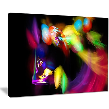 East Urban Home Colorful Smoke Spiral Graphic Art Print on Canvas; 20 '' W x 12 '' H
