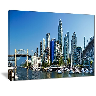 East Urban Home Beautiful View of Vancouver Graphic Art Print on Canvas; 20 '' W x 12 '' H