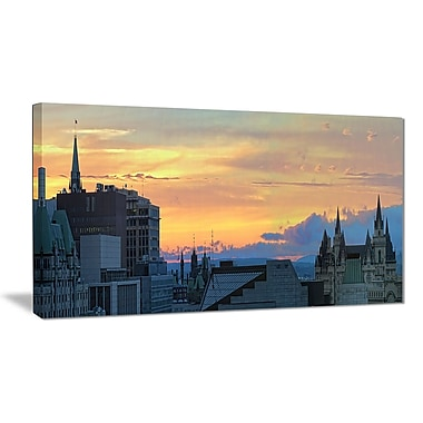 East Urban Home Ottawa City Panoramic Graphic Art Print on Canvas; 32 '' W x 16 '' H