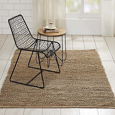 Gracie Oaks Baxter Hand-Woven Natural Area Rug; 4' x 6'