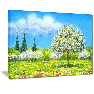 East Urban Home Tree in Different Seasons Photographic Print on Canvas; 40 '' W x 30 '' H