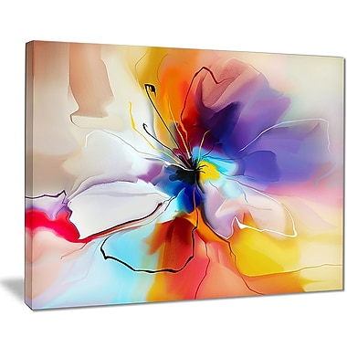 East Urban Home Creative Flower in Multiple Colors Graphic Art Print on Canvas; 40 '' W x 30 '' H