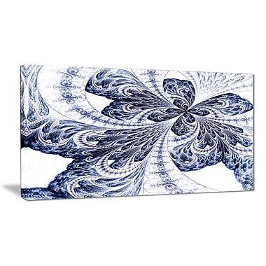 East Urban Home Symmetrical Purple Fractal Flower Graphic Art Print on Canvas; 40 '' W x 20 '' H