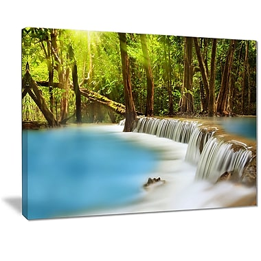 East Urban Home View of Huai Mae Kamin Waterfall Photographic Print on Canvas; 20 '' W x 12 '' H