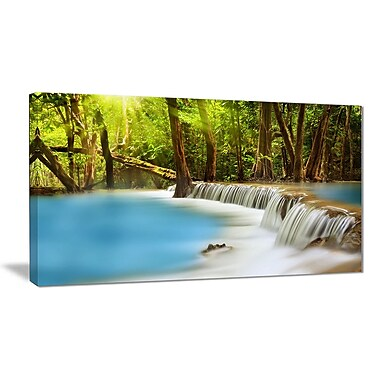 East Urban Home View of Huai Mae Kamin Waterfall Photographic Print on Canvas; 40 '' W x 20 '' H