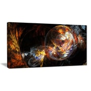 East Urban Home Bubble Smoke Golden Graphic Art Print on Canvas; 32 '' W x 16 '' H