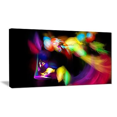 East Urban Home Colorful Smoke Spiral Graphic Art Print on Canvas; 32 '' W x 16 '' H