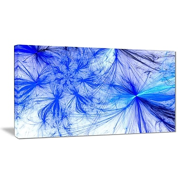 East Urban Home Christmas Fireworks Blue Graphic Art Print on Canvas; 40 '' W x 20 '' H