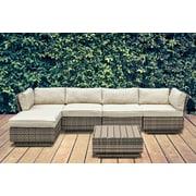 Bayou Breeze Alani 6 Piece Sectional Seating Group w/ Cushion