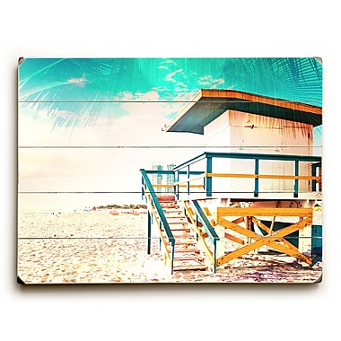 Bayou Breeze 'By the Beach' Rectangle Graphic Art Print on Wood; 12'' H x 16'' W x 1.5'' D
