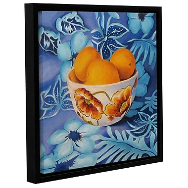 Charlton Home Lemons in a Bowl Framed Painting Print; 24'' H x 24'' W x 2'' D